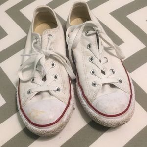 White converse youth